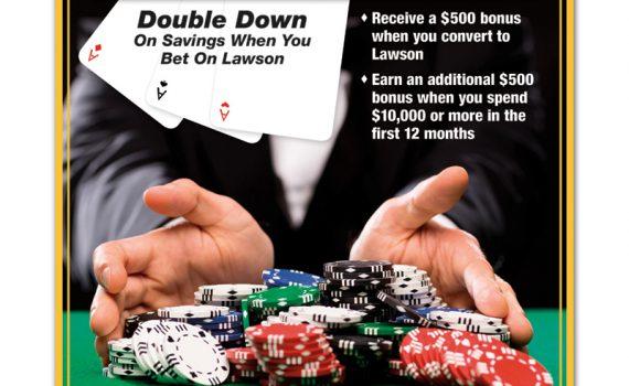 Poker Themed United Rentals Flyer