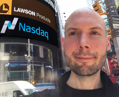 Nasdaq Closing Bell Ceremony Lawson Products 65 Year Anniversary in New York City