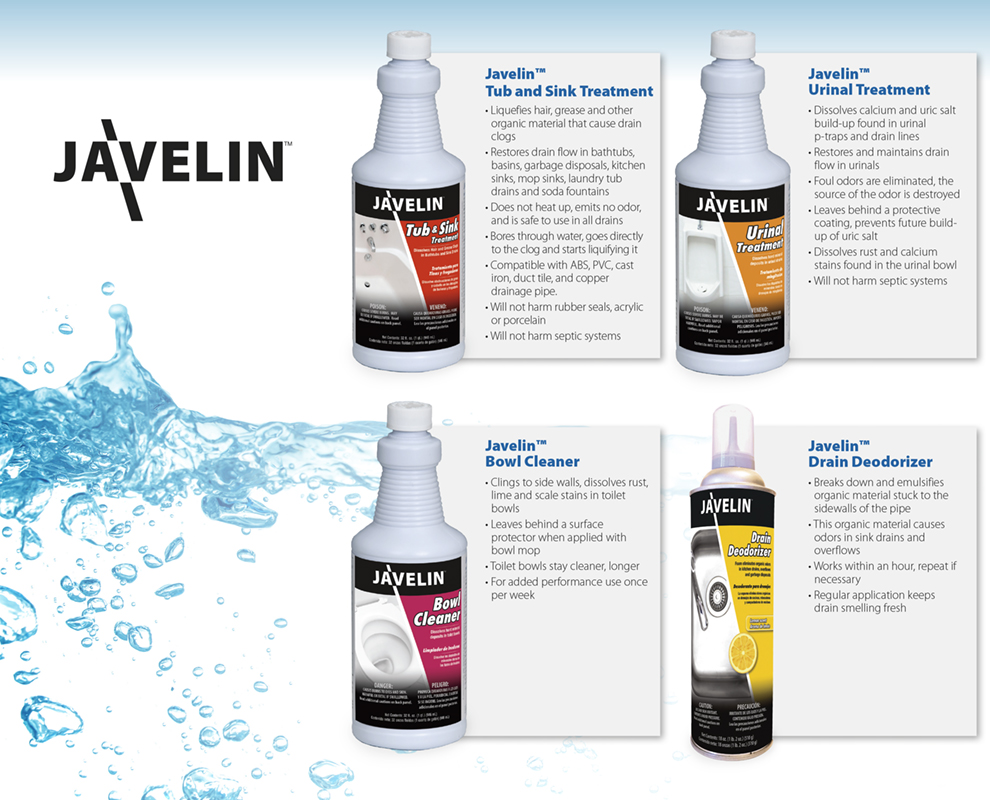 Javelin Drain & Surface Cleaning Products Campaign Trifold
