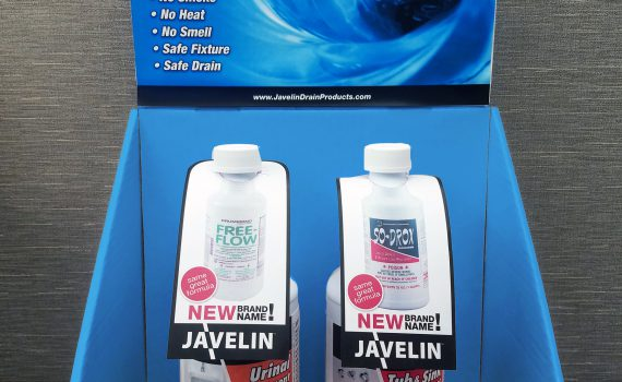 Javelin Drain & Surface Cleaning Products Campaign In-Store Display