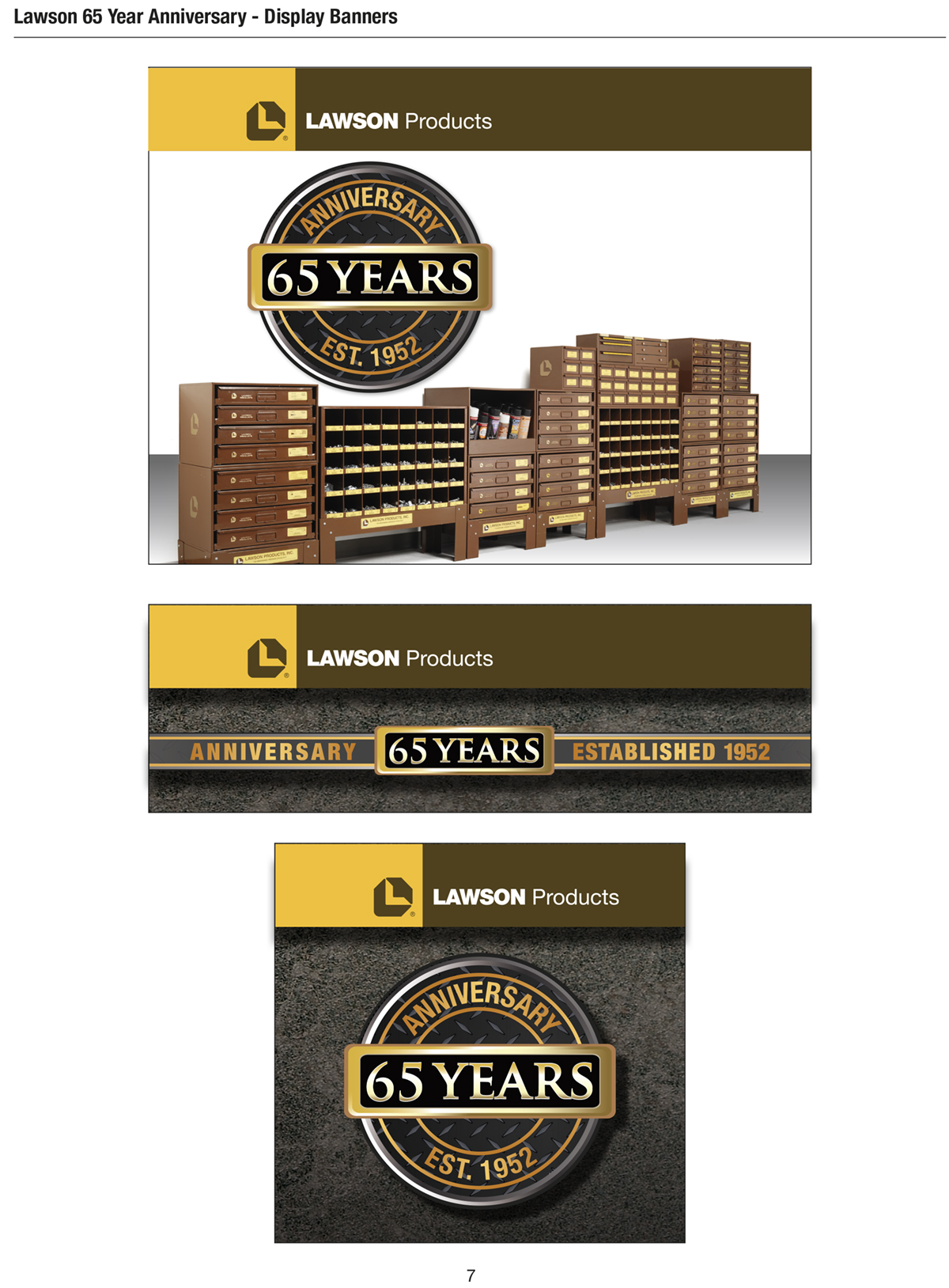 Lawson Products 65 Year Anniversary Graphics Style Guide